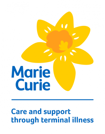 Marie Curie logo, care and support through terminal illness